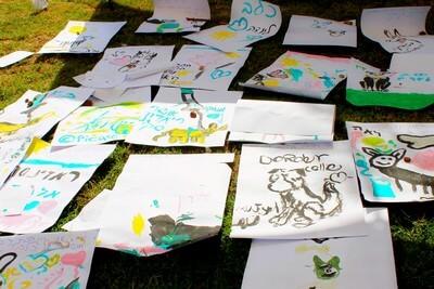 """הכלב באומנות, ציורי כלבים ע""""י ילדים שאוהבים כלבים"""