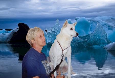 מירנה שיבולת בעלת שם עולמי בכלבנות עם הכלב הכנעני